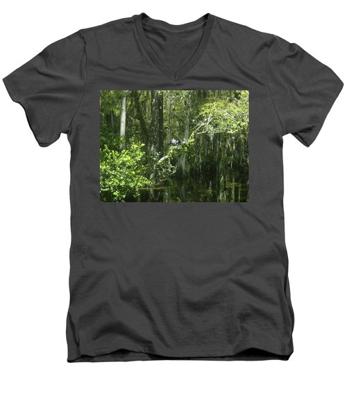 Reflections Upon The Swamp Men's V-Neck T-Shirt