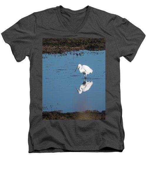 Reflections White Egret Men's V-Neck T-Shirt