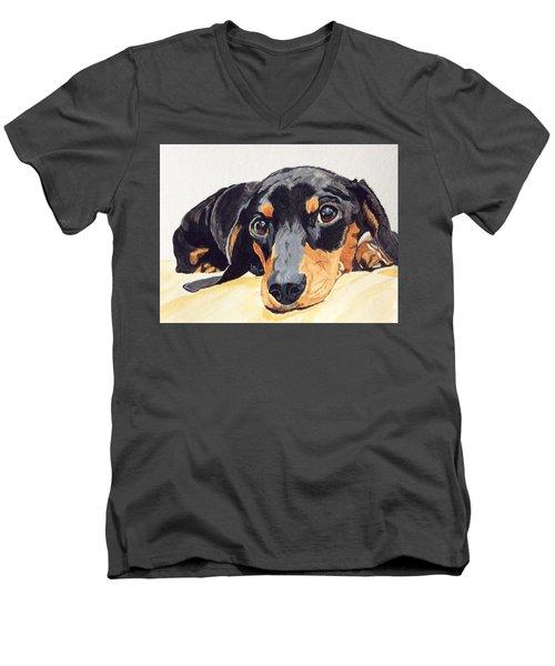 Reflective Men's V-Neck T-Shirt