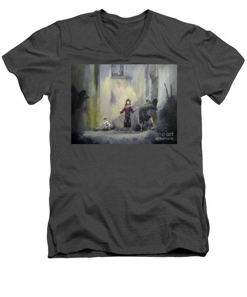 Refugees Men's V-Neck T-Shirt