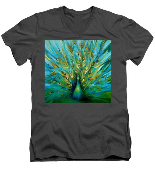 Regal Peacock Men's V-Neck T-Shirt