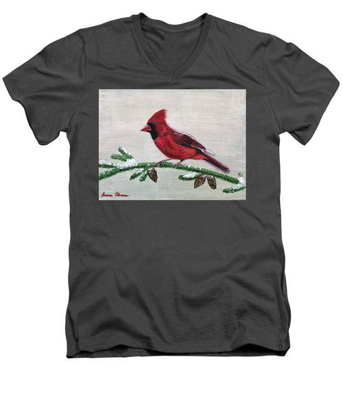 Regal Red Men's V-Neck T-Shirt