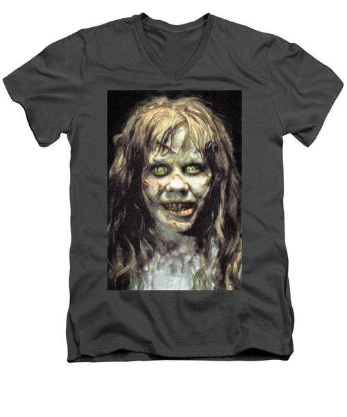 Regan Macneil Men's V-Neck T-Shirt by Taylan Apukovska