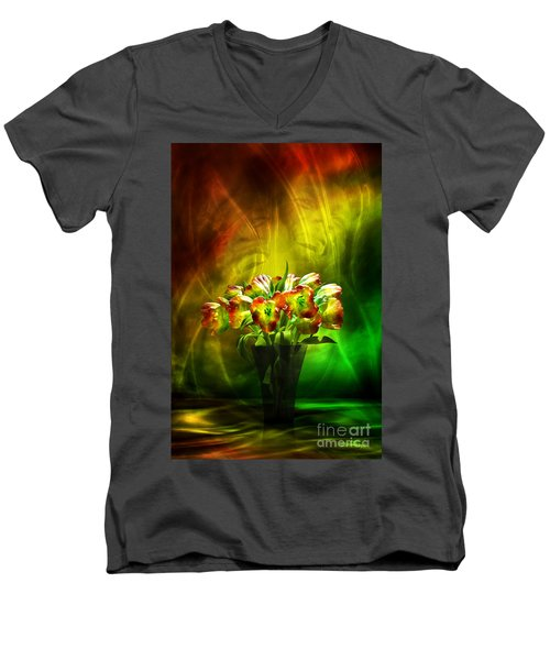 Reggae Tulips Men's V-Neck T-Shirt