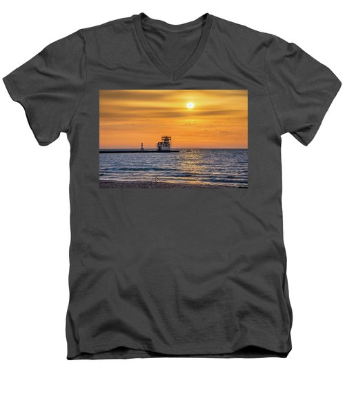 Men's V-Neck T-Shirt featuring the photograph Rehabilitation Rising by Bill Pevlor