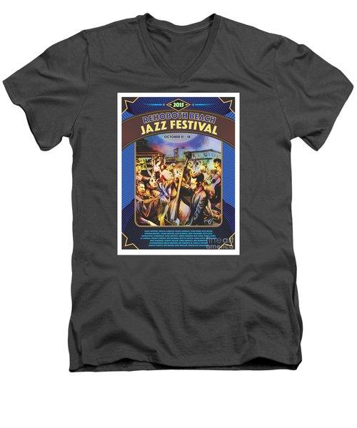 Rehoboth Beach Jazz Fest 2015 Men's V-Neck T-Shirt
