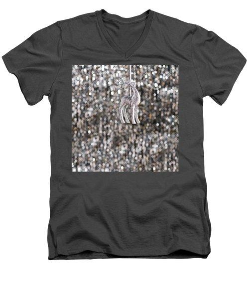 Men's V-Neck T-Shirt featuring the photograph Reindeer  by Ulrich Schade