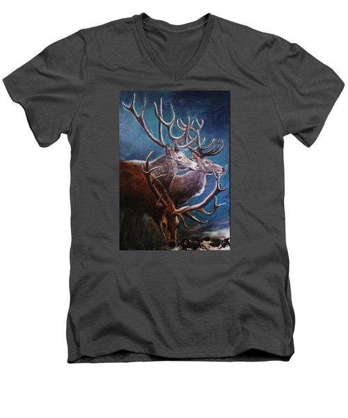 Reindeers Men's V-Neck T-Shirt