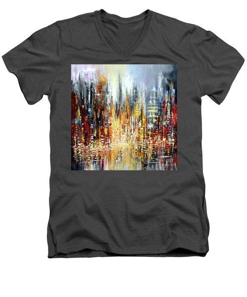 Rejoice Men's V-Neck T-Shirt by Tatiana Iliina