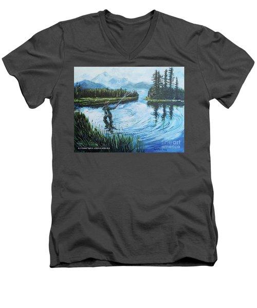Relaxing @ Fly Fishing Men's V-Neck T-Shirt