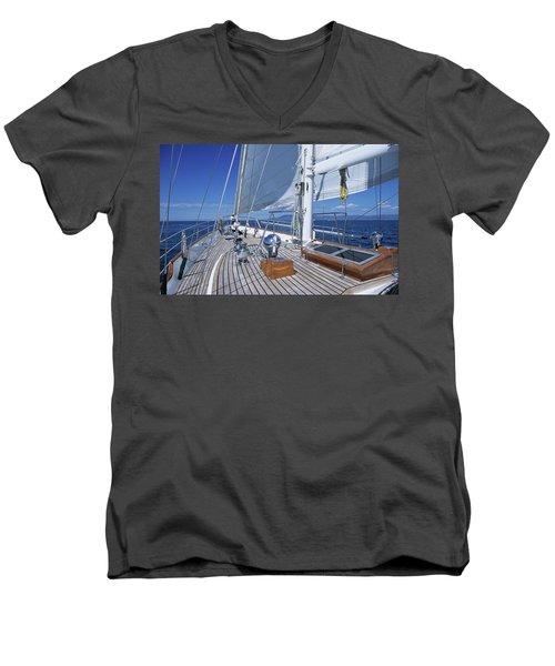 Relaxing On Deck Men's V-Neck T-Shirt