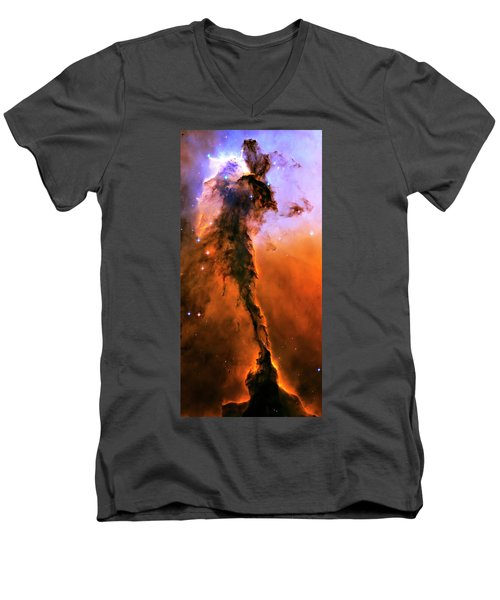 Release - Eagle Nebula 1 Men's V-Neck T-Shirt by Jennifer Rondinelli Reilly - Fine Art Photography