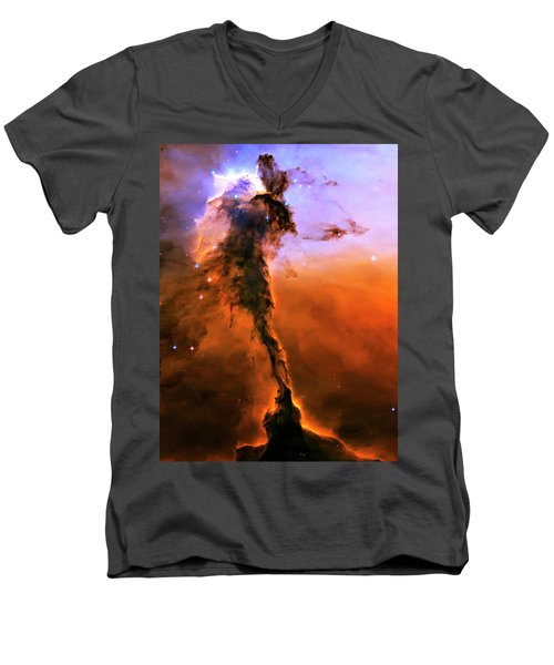 Release - Eagle Nebula 2 Men's V-Neck T-Shirt by Jennifer Rondinelli Reilly - Fine Art Photography