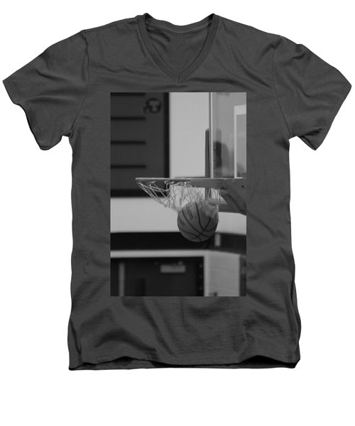 Men's V-Neck T-Shirt featuring the photograph Release From The Net by Laddie Halupa
