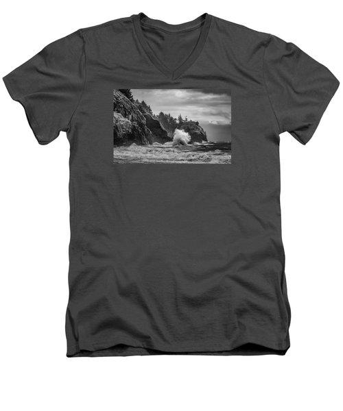 Relentless Assault Men's V-Neck T-Shirt by James Heckt