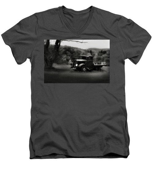 Men's V-Neck T-Shirt featuring the photograph Relic Truck by Bill Wakeley