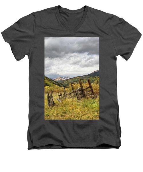 Remains Of A Corral Men's V-Neck T-Shirt
