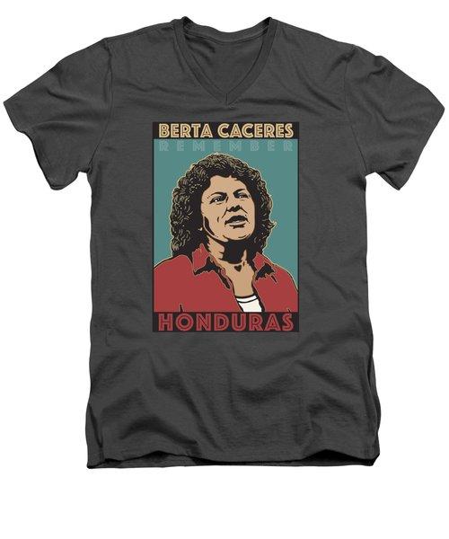 Remember Berta Caceres Men's V-Neck T-Shirt