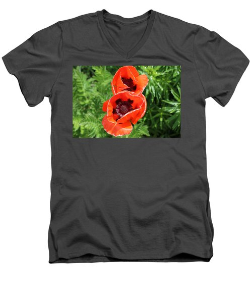 Remember Red 1 Men's V-Neck T-Shirt