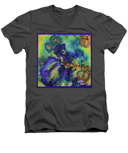 Remember The Flowers Men's V-Neck T-Shirt by Donna Blackhall