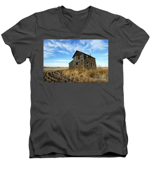 Men's V-Neck T-Shirt featuring the photograph Remember The Past Work For The Future 2 by Bob Christopher