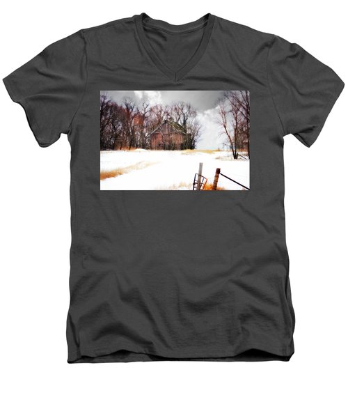 Men's V-Neck T-Shirt featuring the photograph Remember When by Julie Hamilton