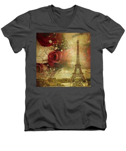 Remembering Paris Men's V-Neck T-Shirt