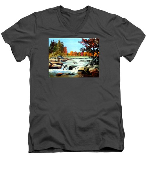Remembering The Little Broad River Men's V-Neck T-Shirt