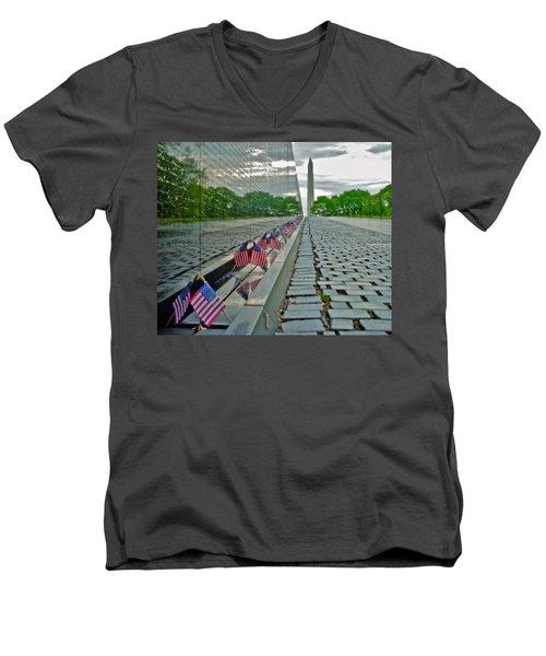 Remembrance Of Patriotism Men's V-Neck T-Shirt