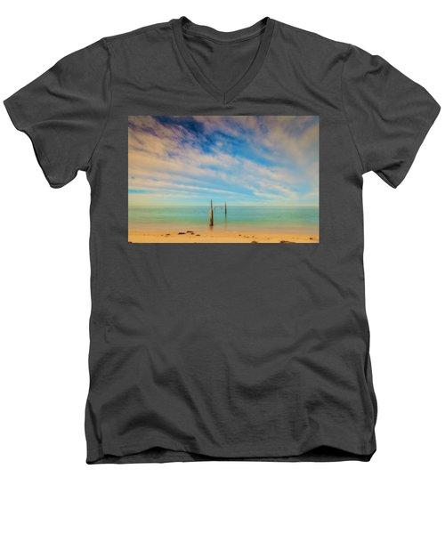 Remenants Men's V-Neck T-Shirt by David Cote