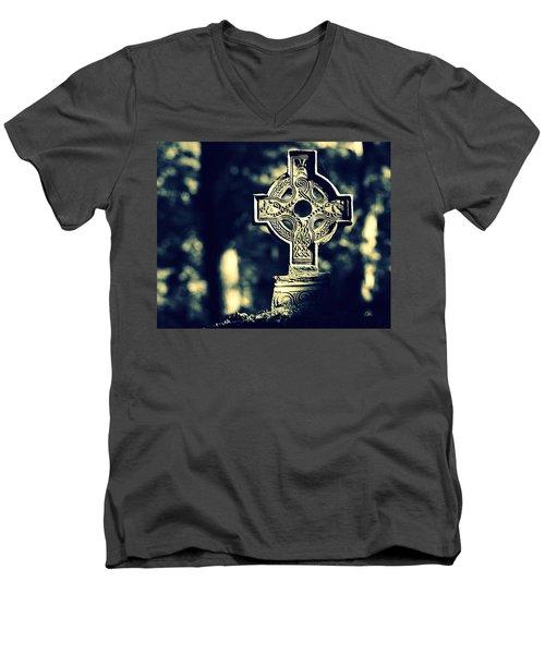 Renaissance Cross Men's V-Neck T-Shirt by Joseph Skompski