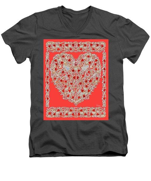 Renaissance Style Heart Men's V-Neck T-Shirt