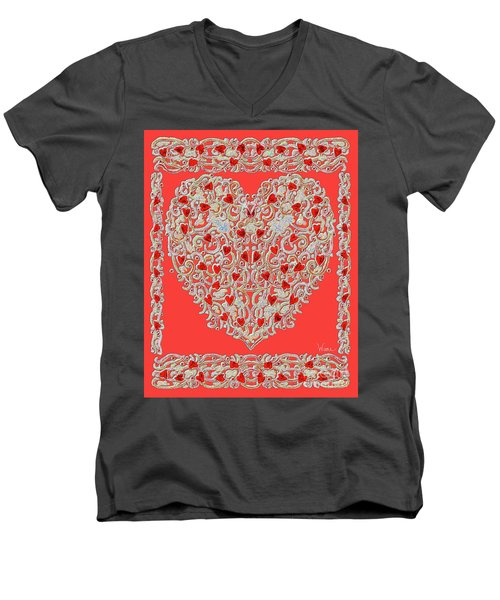 Renaissance Style Heart Men's V-Neck T-Shirt