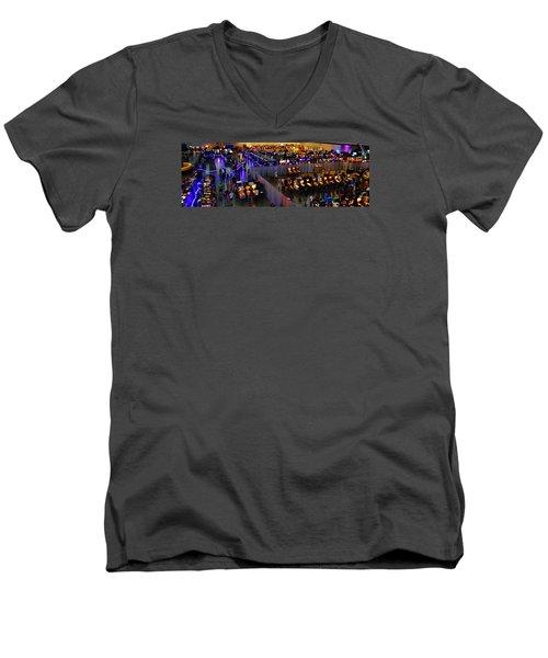 Replay Fx #7 Men's V-Neck T-Shirt by William Bartholomew