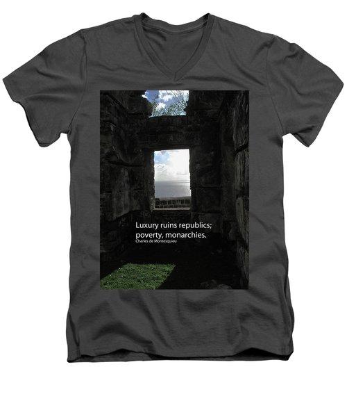 Republics And Monarchies Men's V-Neck T-Shirt by Ian  MacDonald