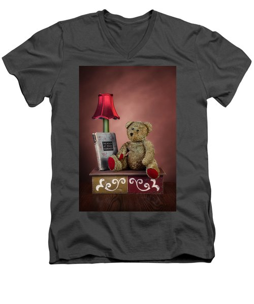 Men's V-Neck T-Shirt featuring the photograph Required Reading by Tom Mc Nemar