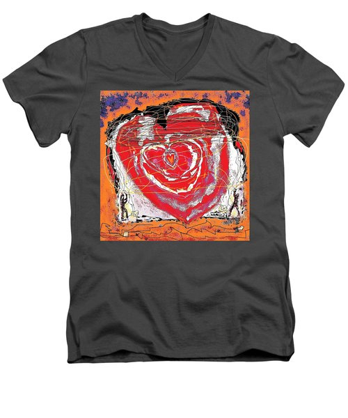 Rescuers Of The Broken Heart Men's V-Neck T-Shirt