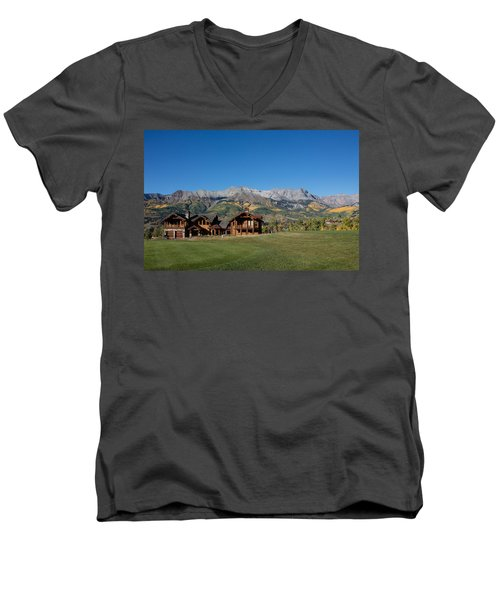 Residences In Mountain Village -- A Planned Community Adjacent To Telluride Men's V-Neck T-Shirt