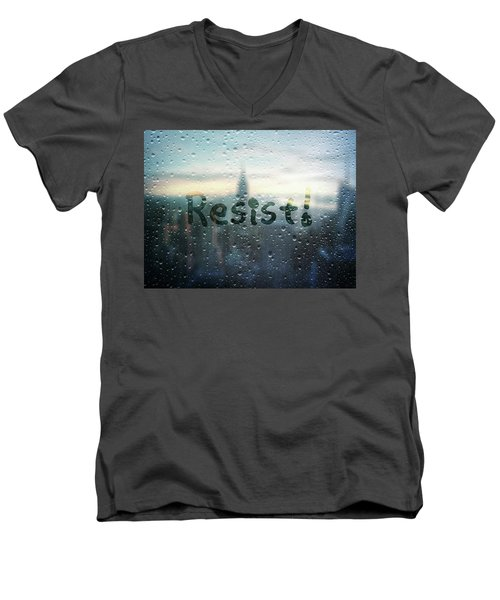 Resistance Foggy Window Men's V-Neck T-Shirt