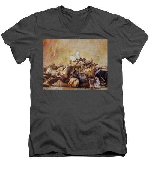 Respite Of The Mosquito Hawk Men's V-Neck T-Shirt