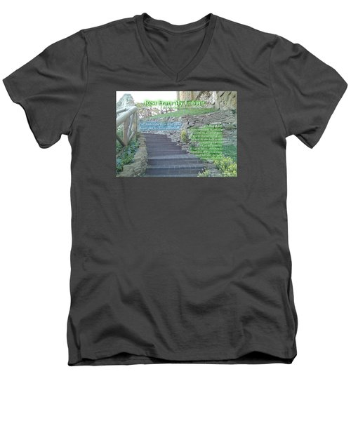 Rest From My Labour Men's V-Neck T-Shirt