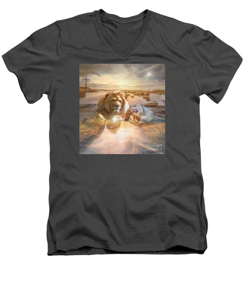 Divine Rest Men's V-Neck T-Shirt