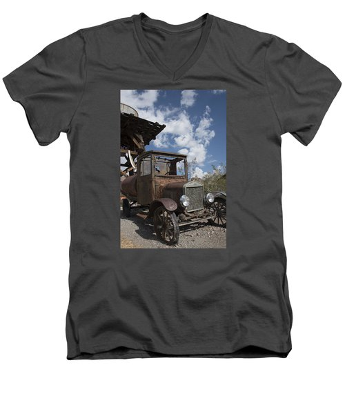 Men's V-Neck T-Shirt featuring the photograph Rest Stop by Annette Berglund