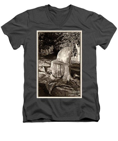 Rest Stop Men's V-Neck T-Shirt by Vinnie Oakes