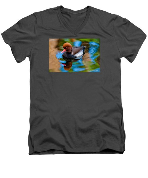 Resting In Pool Of Colors Men's V-Neck T-Shirt