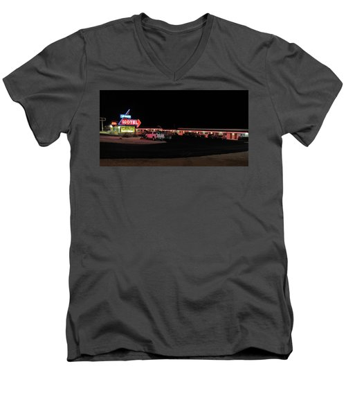 Men's V-Neck T-Shirt featuring the photograph Resting In The Past by Gary Kaylor