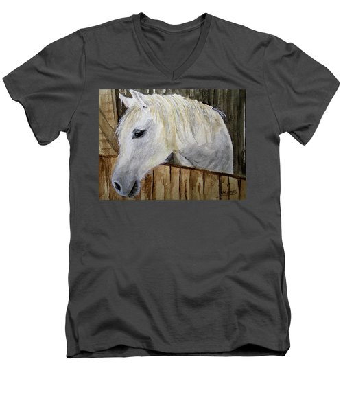 Resting In The Stall Men's V-Neck T-Shirt
