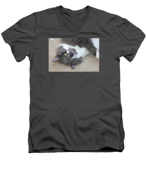 Resting Ms Mustache Men's V-Neck T-Shirt