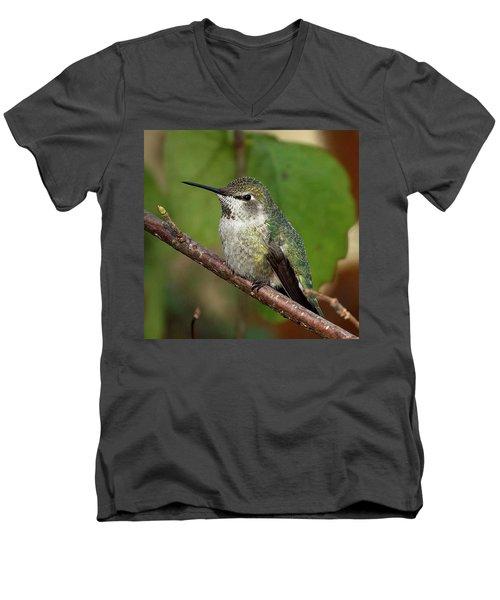 Resting Men's V-Neck T-Shirt by Sheldon Bilsker