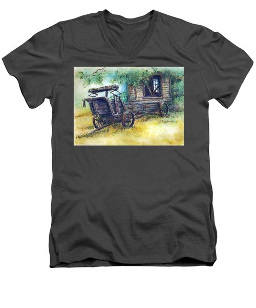 Retired At Last Men's V-Neck T-Shirt